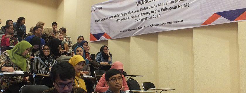Workshop Aspek Legal, Akuntansi Dan Perpajakan Pada Badan Usaha Milik Desa (Bumdes)
